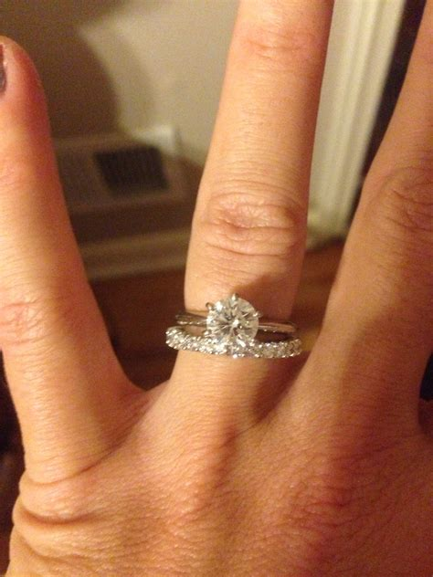 wedding bands to pair with solitaire solitaire engagement paired with infinity band