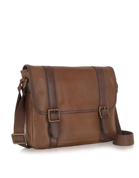 Fossil Satchrl Perfo Cognac fossil estate city bag in brown for cognac lyst