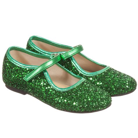 green shoes manuela de juan green glitter leather