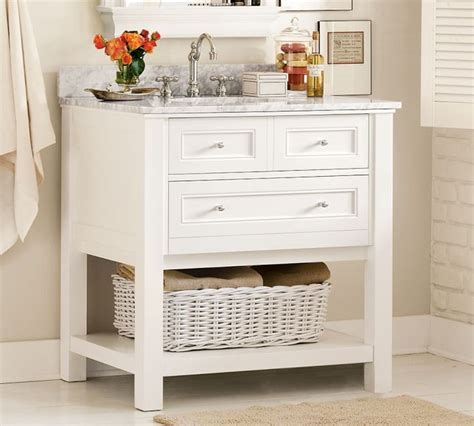Pottery Barn Cabinets Bathroom » Home Design