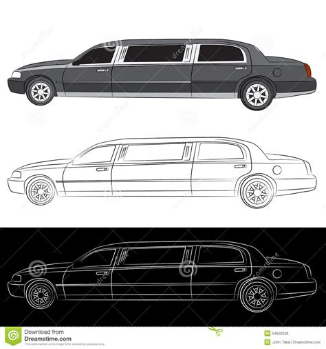 limousine vehicle luxury limo car icon stock vector image 54602536