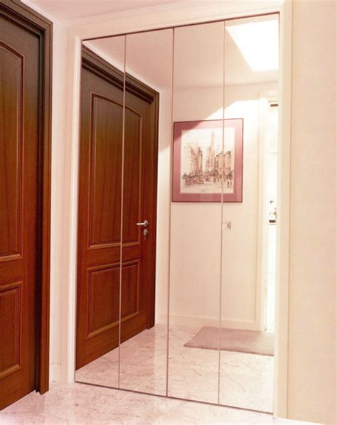 Glass Mirror Closet Doors Bifold Closet Doors Creative Mirror Shower