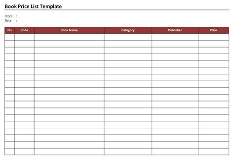 reading list template 28 reading list template reading list excel