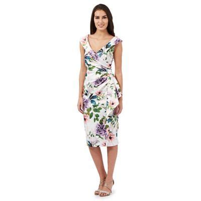 beautiful dresses for wedding guests debenhams debut ivory samantha botanical print dress debenhams