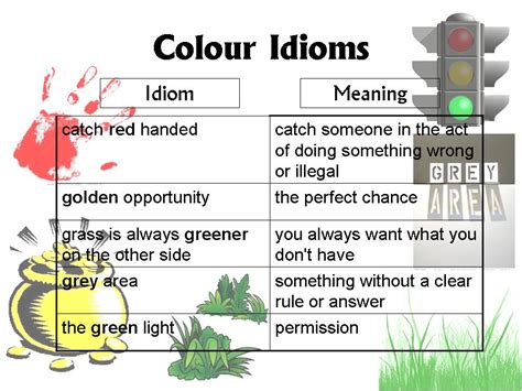 color idioms lesson 5 colour idioms christina ong s blog