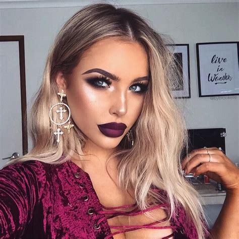blonde hair purple lipstick 7738 best makeup images on pinterest make up beauty