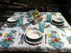 pioneer table setting pioneer timeless floral tablecloth tablecloths