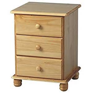 sol bedside cabinet 3 drawers antique pine bedside