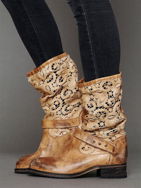crochet ankle boots free crochet beau boot in brown lyst