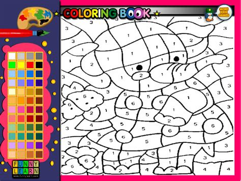 number coloring pages games animal games free kids games online kidonlinegame com