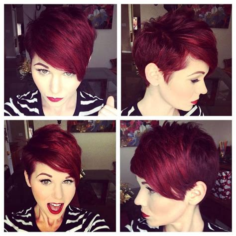 woman short hair cut with a defined point in the back 1000 ideas about short asymmetrical hairstyles on
