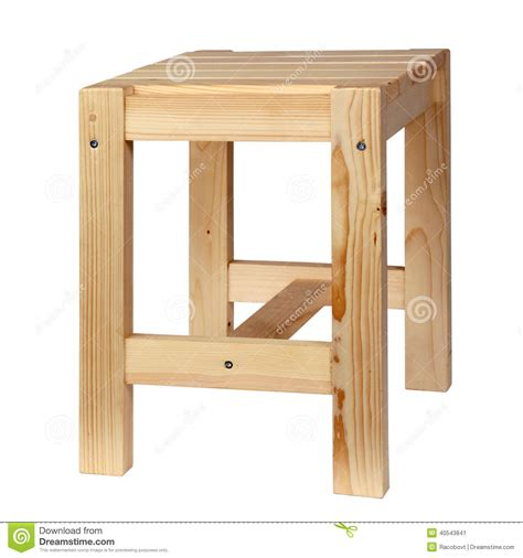 simple wooden stool plans wooden simple stool stock photo image 40543841