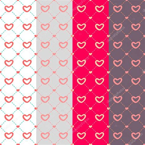 vintage heart pattern 4 vintage heart seamless patterns tiling endless