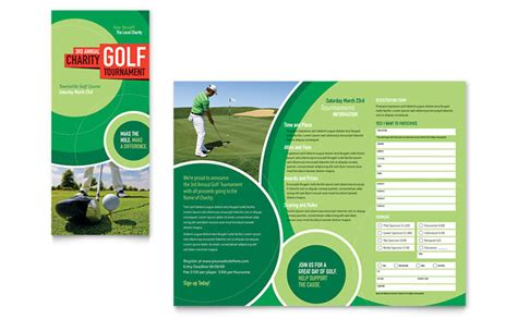 golf brochure template golf tournament tri fold brochure template design
