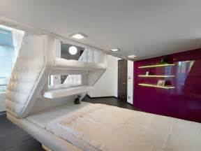 Contemporary Bedroom Design Small Space Loft Bed House In Dnepropetrovsk By Yakusha Design