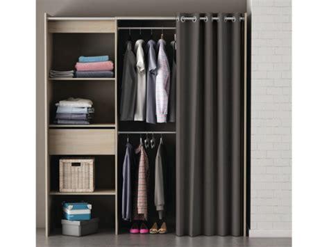armoire dressing extensible l114 168cm kylian 3 coloris