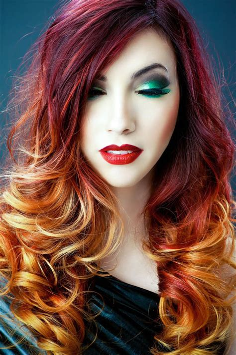hairstyles to hide dyed hair blazing ombre the latest trends in women s hairstyles