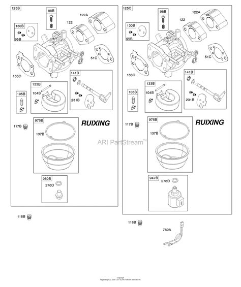briggs and stratton carburetor diagram briggs and stratton 356777 0118 e1 parts diagram for