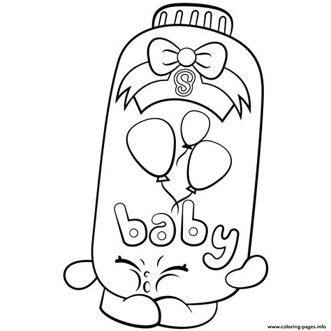 Coloring Pages Of Baby Shopkins | powder baby puff shopkins season 2 coloring pages printable