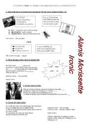 printable lyrics for ironic english worksheets using songs worksheets page 122