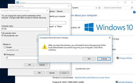 unjoin windows   ad domain