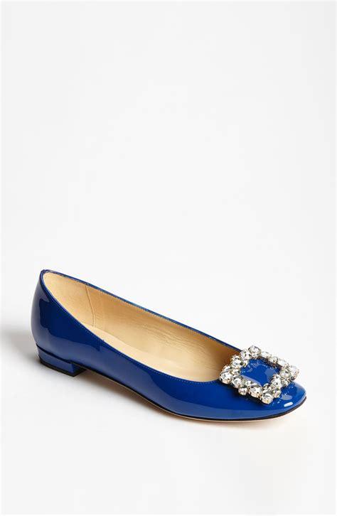 kate spade flat shoes kate spade norella flat in blue cobalt patent lyst