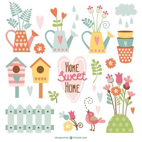 home hogar dulce hogar gracias por vuestro planeta paquete de dibujos animados de hogar dulce hogar descargar vectores gratis