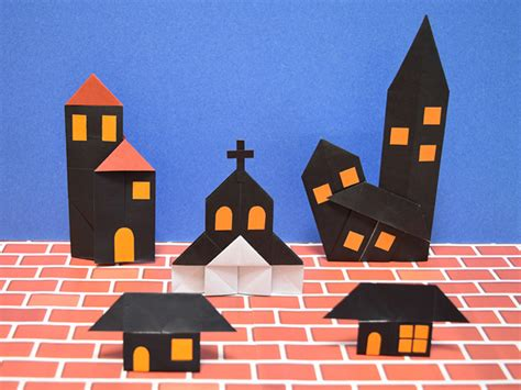 How To Make A Paper Haunted House - origami haunted house