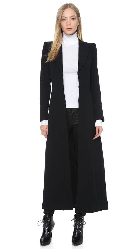 Black Coat talia pleated back coat black in