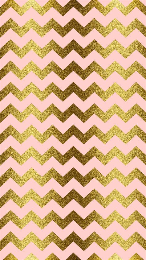 wallpaper pink and gold gold glitter blush pink chevron iphone wallpaper
