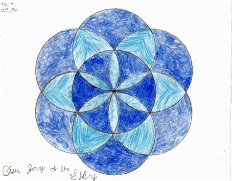 geometric designs using circles geometric art project seven circle flower design