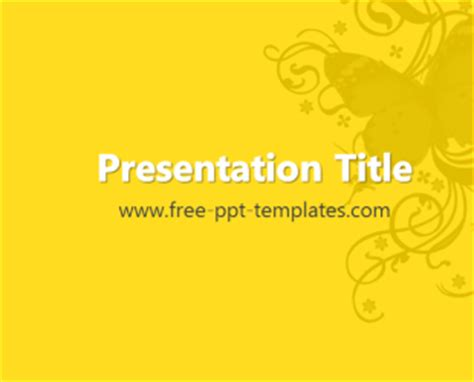 butterfly ppt template free powerpoint templates