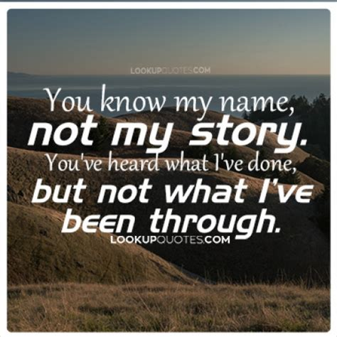 This Is Not Your Story you my name not my story