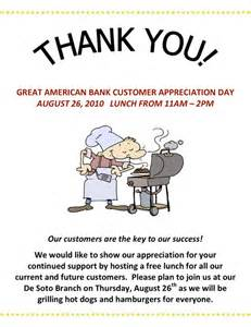 customer appreciation day flyer template employee appreciation flyer ideas great american bank will