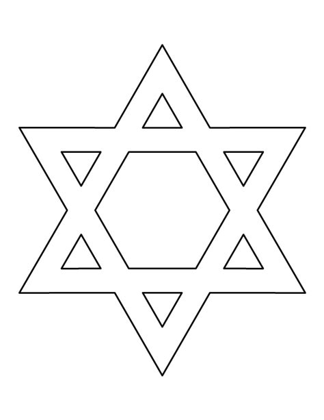star pattern in c pdf star of david pattern use the printable outline for