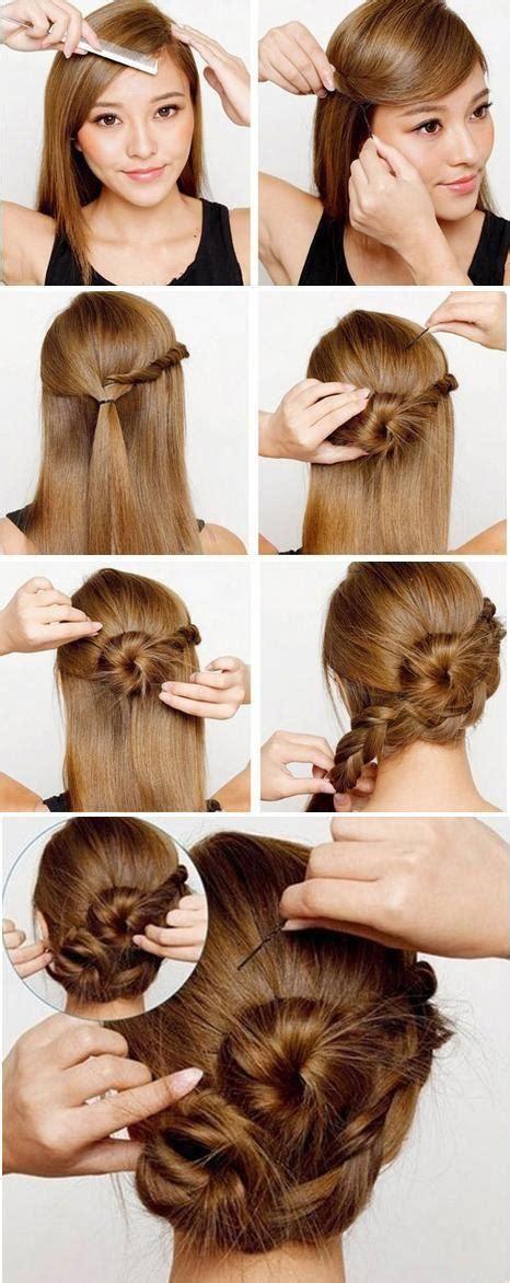 twisted side bun updo hairstyles tutorial popular haircuts cute side braid bun hairstyles how to