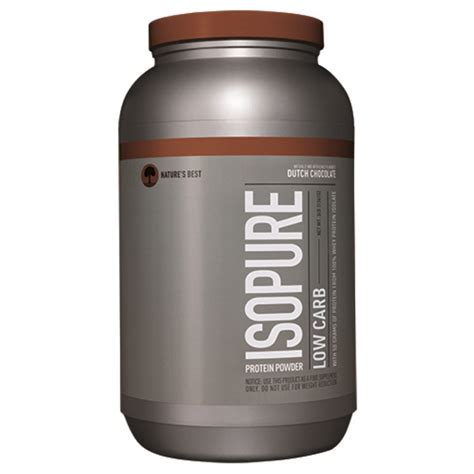 protein powder nature s best iso isopure low carb protein powder chocolate 3 lb 1361