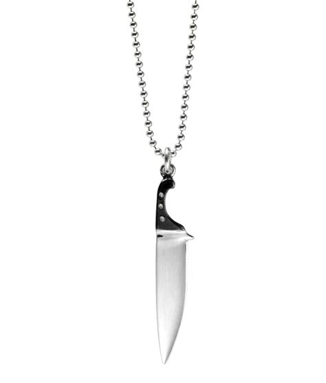 chef s knife pendant silver chef s knife pendant is edgy