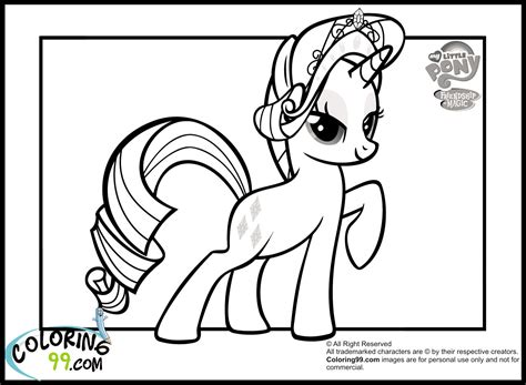 coloring pages of my pony rarity my pony rarity coloring pages team colors