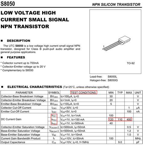 transistor s8050 изображения s8050 datasheet tonpix ru