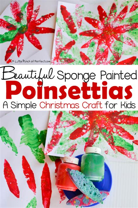 poinsettia craft project beautiful sponge painted poinsettias a simple craft for