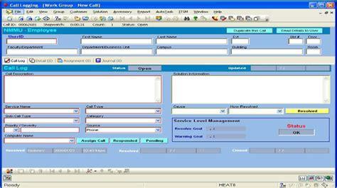 help desk call log nmmu ict service desk call logging ui