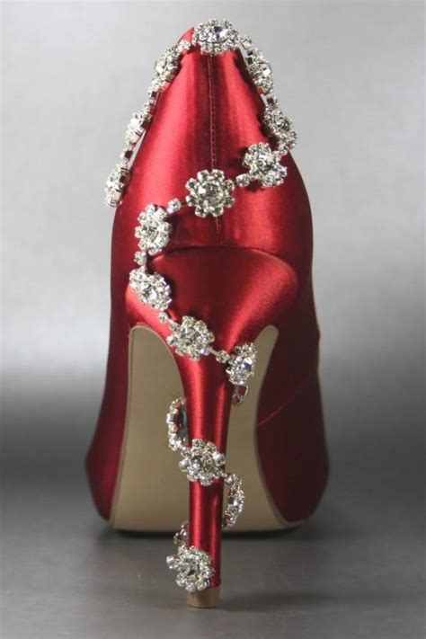 Wedding Shoes With Heel Detail by Shining High Heel Wedding Sandal With Crystals