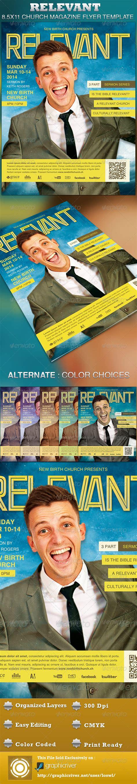 relevant church magazine flyer template psdbucket com