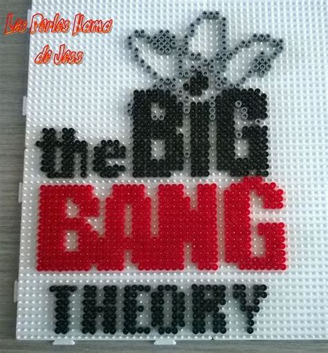 theory about pattern the big bang theory hama perler beads by jessica bartelet