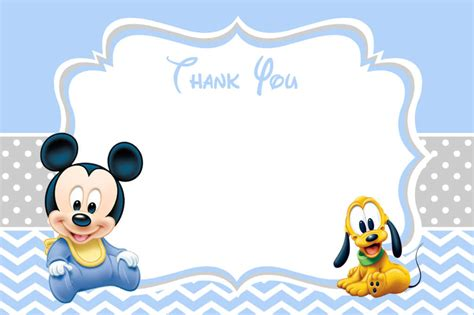 Mickey Mouse Card Template by The Best Baby Mickey Mouse Invitations Free It Now