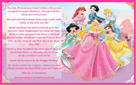 princess birthday party invitation templates