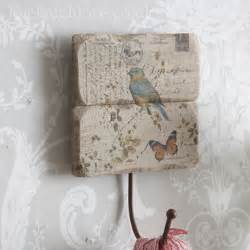 Decoupage Wall Ideas - botanical range single hook decoupage