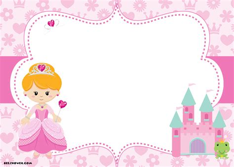Free Printable Disney Princess Birthday Invitations Template Free Printable Birthday Princess Baby Shower Invitation Templates Free