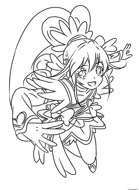coloring book info cure precure glitter coloring pages printable